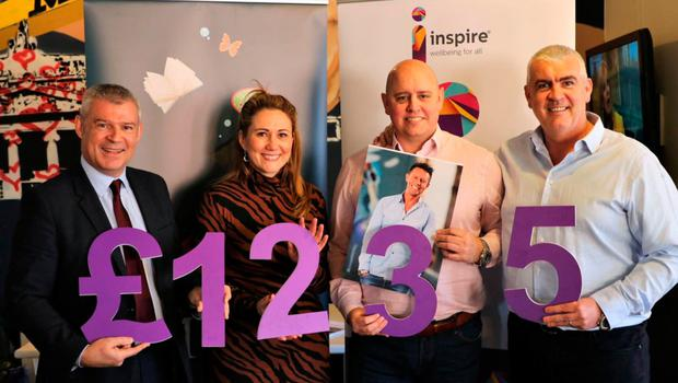 John Conaghan of Inspire Wellbeing, Cate Conway, Gavin Clements and Gareth Murphy of We are Vertigo