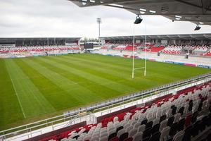 The memorial stand at the Kingspan Stadium