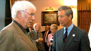 The Prince of Wales meeting Seamus Heaney in 2003 (Clarence House/PA)