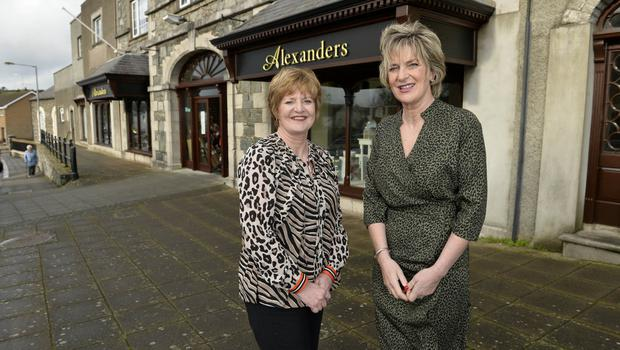 Suzanne with her sister and business partner Johanne Maxwell