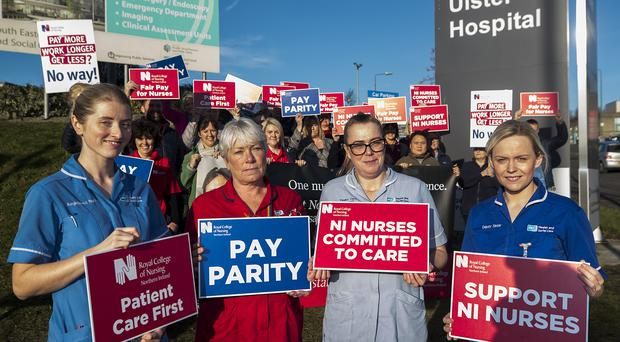 Nurses are walking out in the first strike in the Royal College of Nursing's 103-year history (Liam McBurney/PA)
