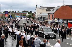 An event that brought people onto the streets, Bobby Storey's funeral