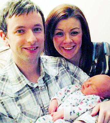 Lisburn couple Stephen and Louise Patterson are celebrating the birth of their son Callum. The baby boy was born two days late on January 23 at Lagan Valley Hospital's midwife led unit. He weighed a healthy 8lb 13oz and measured 50.5cm on arrival in the world. Proud new parents Louise (32) an accountant and Stephen (31) a civil engineer said hospital staff provided excellent care in a relaxed environment for their son's water birth. We want to thank Mary Wallace and Maria Byrne, mid-wives at Lagan Valley, who assisted in our son's calm delivery in the birthing pool, Stephen said. We would also like to thank the rest of the staff for their excellent care in a relaxed environment.  Louise said: Everyone was brilliant.