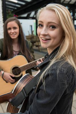 Kate Barr and Kathleen O'Boyle who performed in the Craft Village during Culture Night in Londonderry