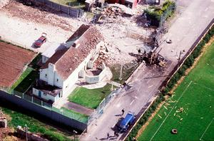 The aftermath of the Loughgall attack