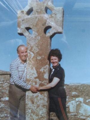 James Henry Babington and his wife Maura in 1989