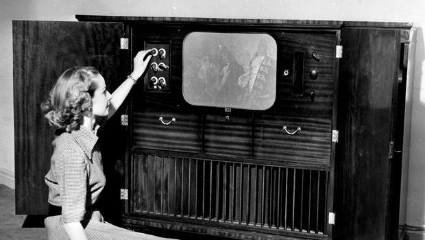 A television set in 1951 (PA)