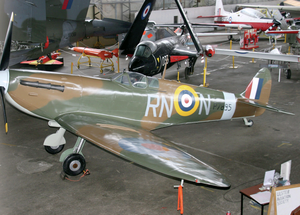 The full-size replica of a Spitfire fighter due to take pride of place at the airshow