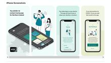 Northern Ireland's Covid-19 contact-tracing mobile phone app (Department of Health/PA)