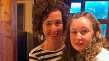 So close: Nora Quoirin with her mother Meabh