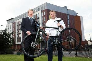 David Menary of Colliers NI and Stephen Laird from Chain Reaction Cycles