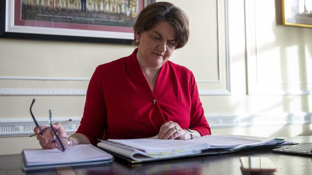 Stormont First Minister Arlene Foster in her office at Parliament Buildings in Belfast (Liam McBurney/PA)
