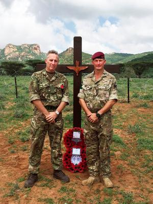 Ian Paisley MP at a Remembrance Day commemoration in Kenya