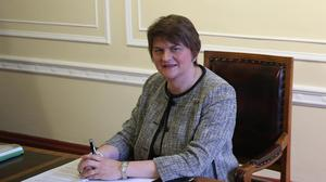 Arlene Foster was carrying out her first engagement as First Minister