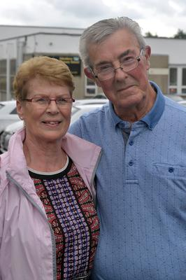 Elsie and Ronnie Gracey, who were voting at Edenderry PS
