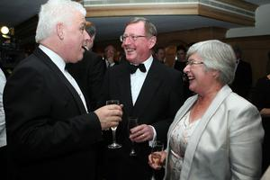 Fearghal McKinney with Lord and Lady Trimble