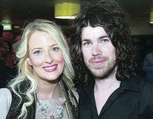Taking time out to enjoy the relaunch of the Market Place Theatre Bar and Bistro in Armagh are Shauna Campbell and Garath Keating