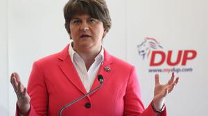 DUP leader Arlene Foster speaking at the party's General Election campaign launch in east Belfast
