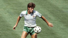 Norman Whiteside in action in the World Cup