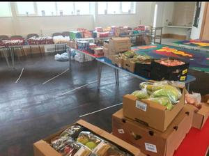 Some of the food parcels prepared by the Cregagh Community Association