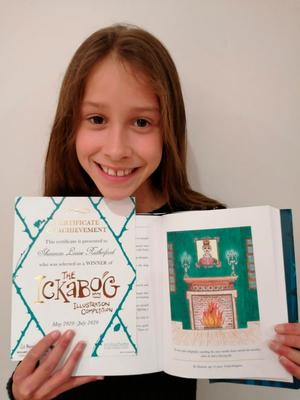 Excited: Shannon Rutherford with her illustration for JK Rowling's new book