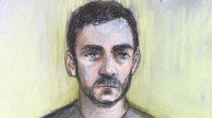 Court artist sketch of lorry driver Maurice Robinson (Elizabeth Cook/PA)