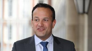 Leo Varadkar said a no-deal Brexit would prompt more liberal unionists and nationalists in Northern Ireland to consider joining a united Ireland (PA)