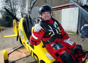 Record breaker Norman Surplus with his gyrocopter