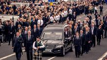 The funeral of Bobby Storey in west Belfast