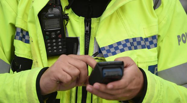 The disturbance took place in a retail park in Antrim