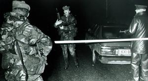 Soldiers on patrol in 1989
