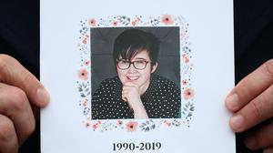 The order of service from journalist Lyra McKee's funeral (Liam McBurney/PA)