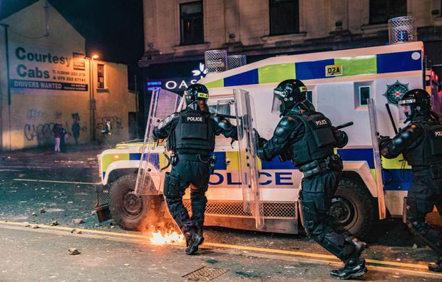 Weekend of violence: Police came under attack in Belfast and Newtownabbey
