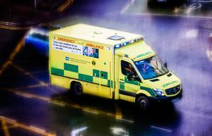 The woman was taken to Belfast's Royal Victoria Hospital by ambulance
