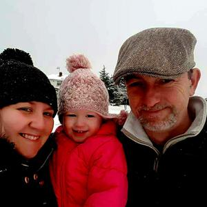 Philip McGarry with his wife Lisa and daughter Scarlett (4)