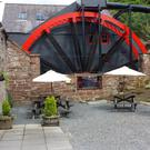 The Old Mill coffee shop's waterwheel
