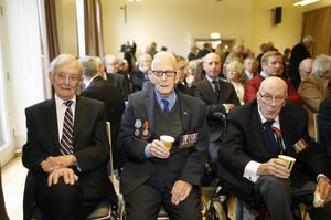 Veterans Philip Ball, Robert McCullough and Richard Cocup