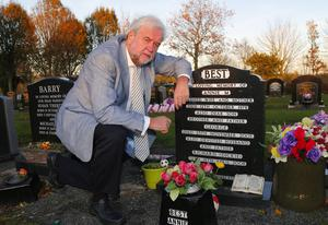Visiting George Best's grave yesterday was Ivan Little