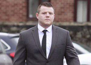 Kurtis Armstrong arrives at court yesterday