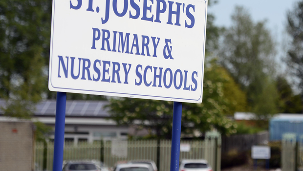 St Joseph's Primary School on the Greystone Road in Antrim was forced to close earlier this week