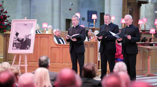 The Priests performing at St Anne's Cathedral in Belfast