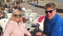 Davy and Valerie McNeice on a previous holiday in Spain