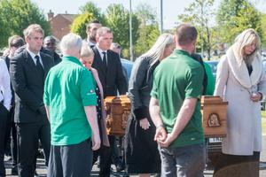 """Mourners at the funeral of Republic of Ireland and Premier League footballer Shane Duffy's father Brian heard him described as a """"true family man"""" who was """"loved and respected"""""""