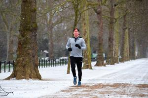 A jogger in St James's Park in London