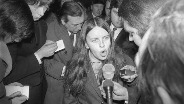 Bernadette McAliskey as an independent MP for Mid Ulster in 1972