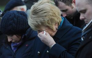 Jean Caldwell at a memorial service for the 20th anniversary of the massacre in 2012