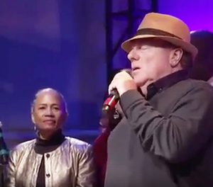 Sir Van Morrison sings at the Agape International Spiritual Centre