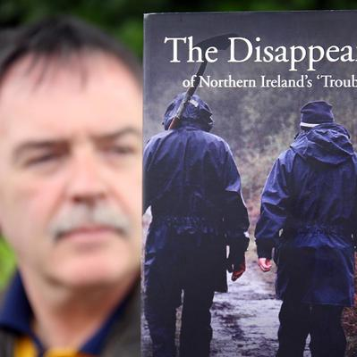 Kieran Megraw, brother of one of the Disappeared, Brendan Megraw, with the new book The Disappeared Of Northern Ireland's Troubles