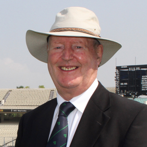 Basil McNamee in his role as Cricket Ireland president