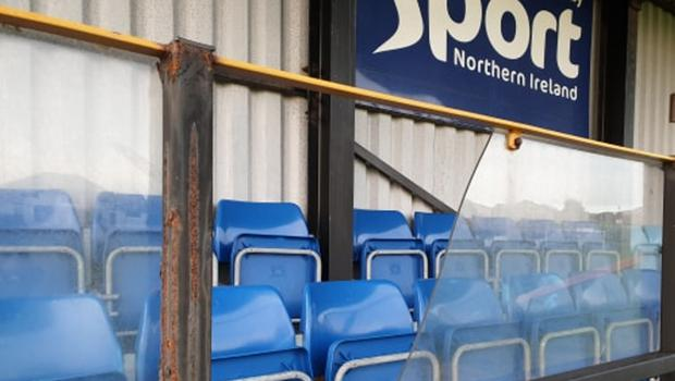 Some of the damage caused at Portstewart FC's ground over the weekend